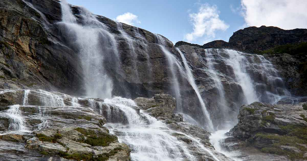 Left Sofiya waterfall