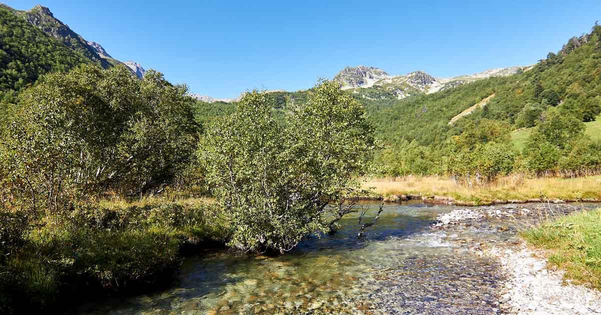 The valley of the left source of the river Belaya