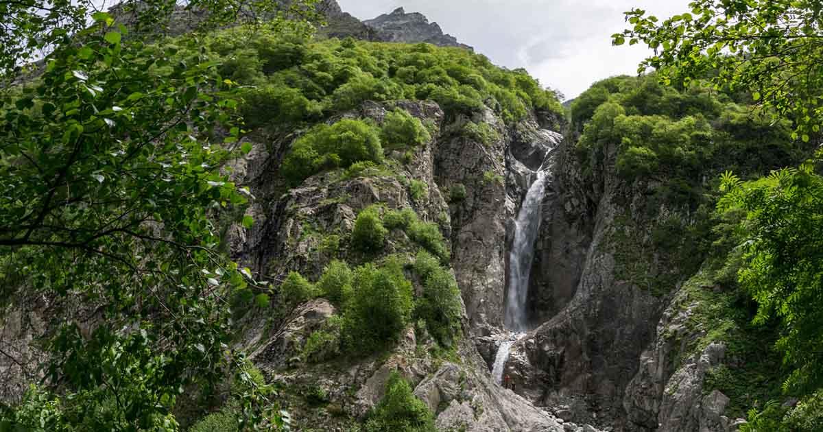 Zerklisu waterfall.