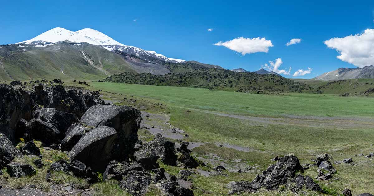 The slopes of Elbrus,