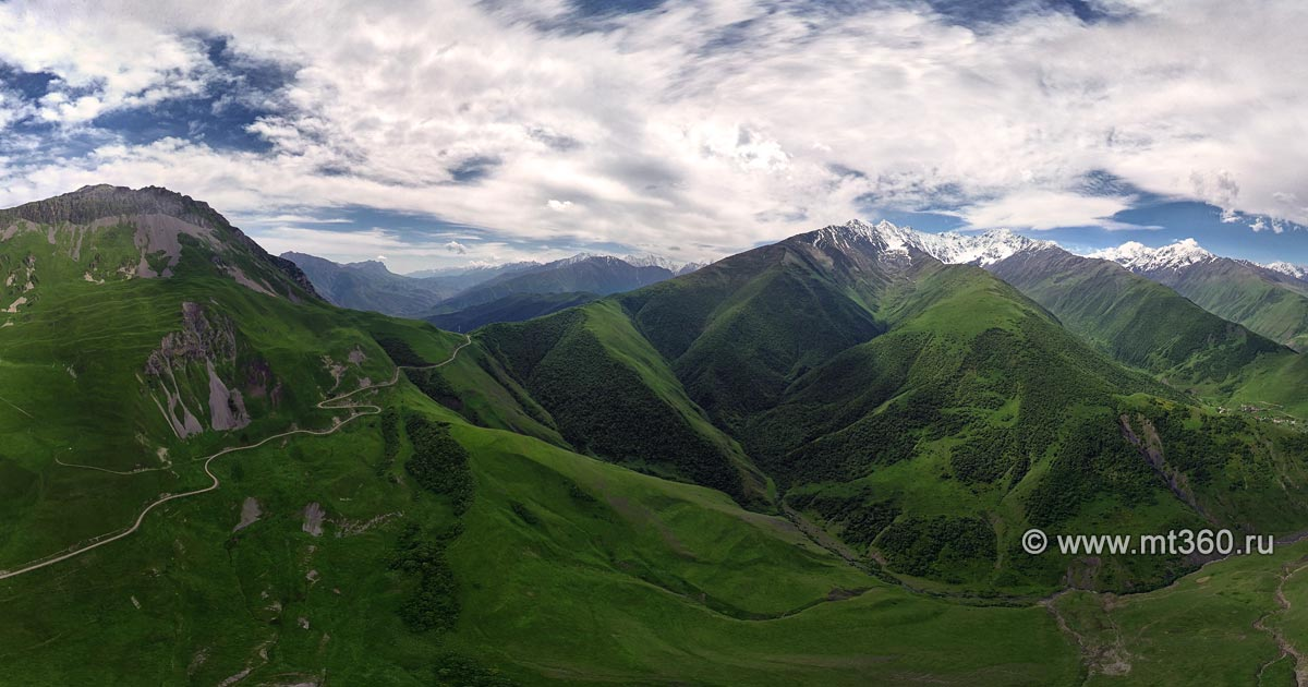 Saniban Pass (Suargom) with a bird's-eye view