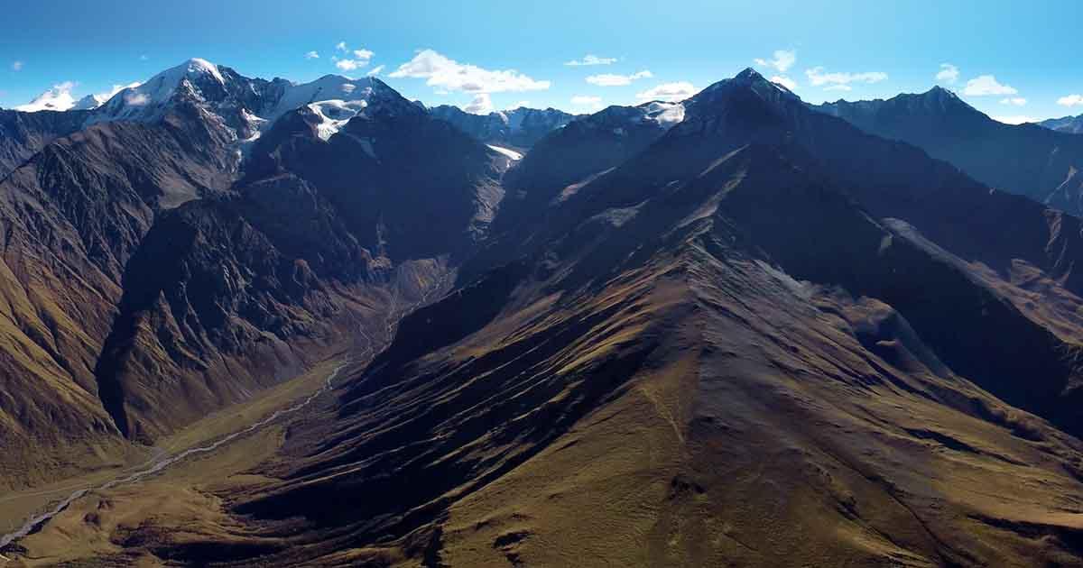 Gachik pass. Aerial panorama.
