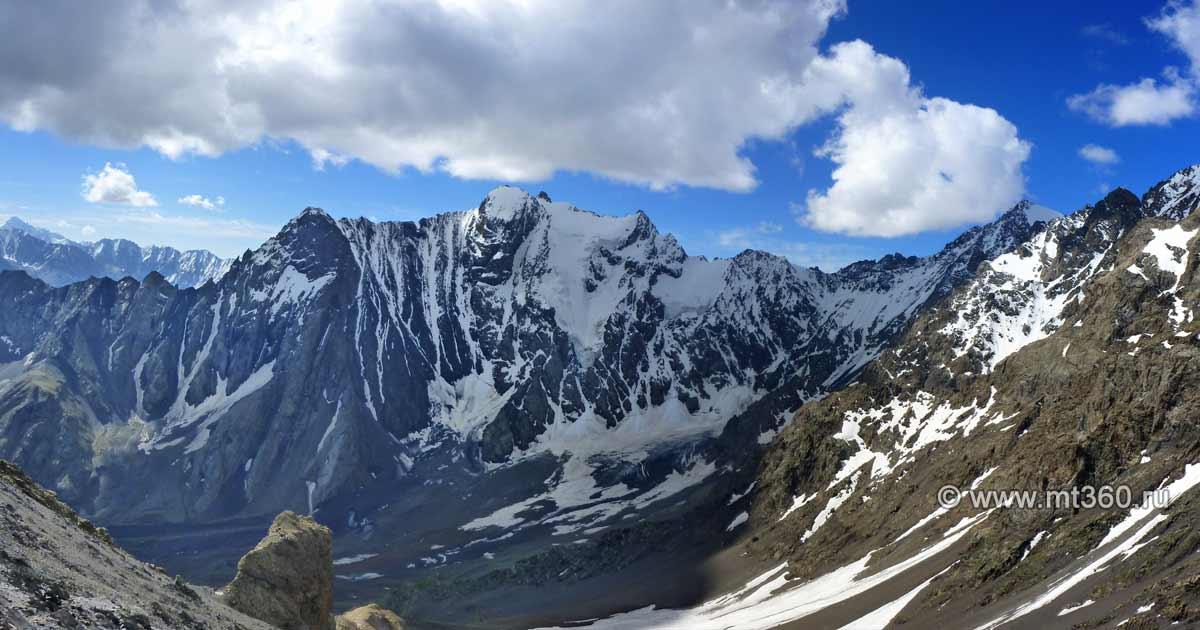 North shoulder of Severny peak