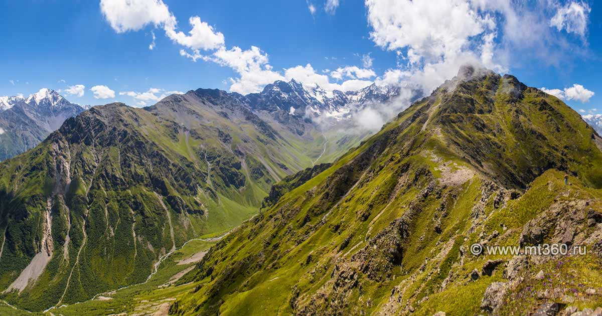 The Chekhatsirtit ridge, Kaysky pass area